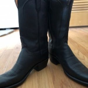Black Lucchese Cowboy boots